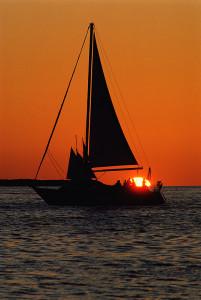 Sunset - Sailing